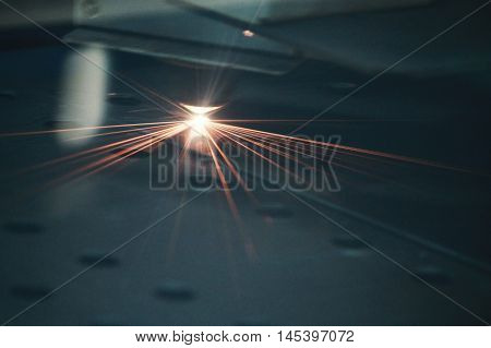 Laser cut Procces enginering machine plat metal