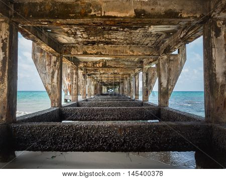 Under The Old Bridge To Harbor