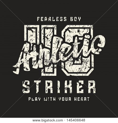 Athletic Emblem In Retro Style