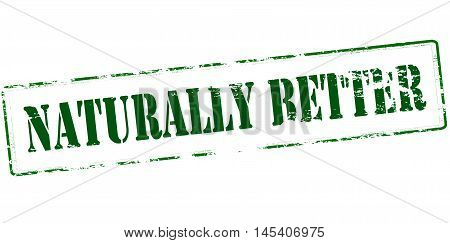 Rubber stamp with text naturally better inside vector illustration