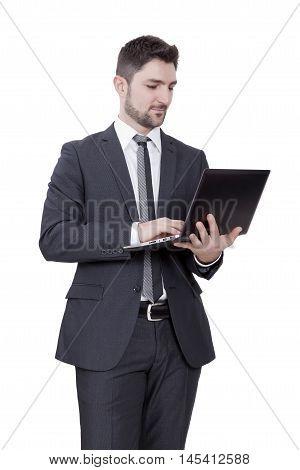 Businessman Watching Pc
