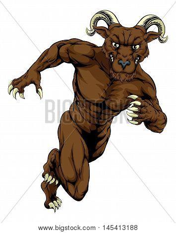 Running Ram Mascot