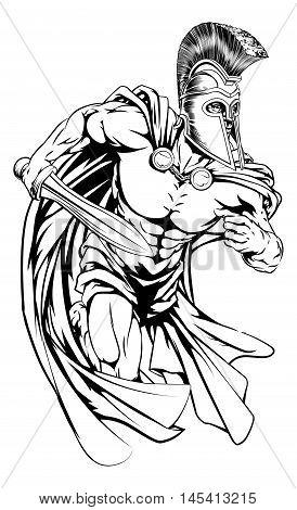 Spartan With Sword