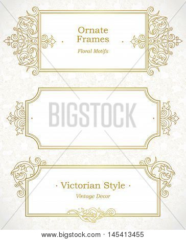 Vector Decorative Frame In Victorian Style.