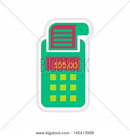 paper sticker on white  background   terminal machine