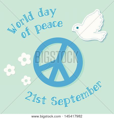 International Day of Peace symbol poster illustration with peace symbol