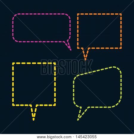 Set of dialogue icon for communication dotted line.