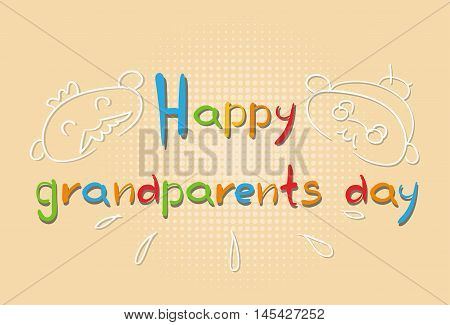 Grandfather With Grandmother Happy Grandparents Day Greeting Card Banner Vector Illustration