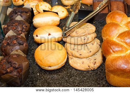 French Pastries On Display A Confectionery Shop In France