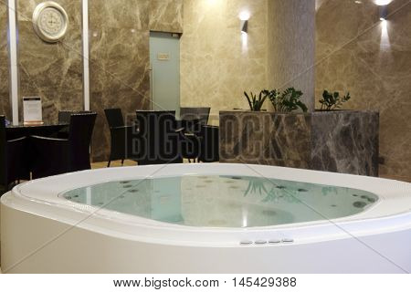The image of a jacuzzi in a recreational hall