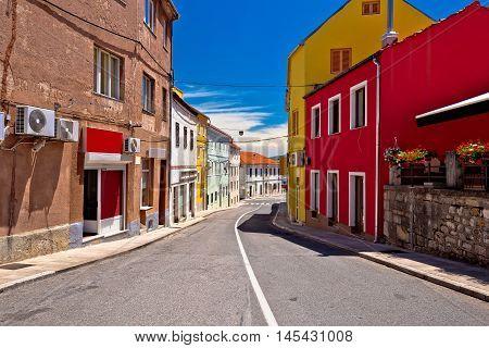 Town of Drnis colorful street view inland Dalmatia Croatia