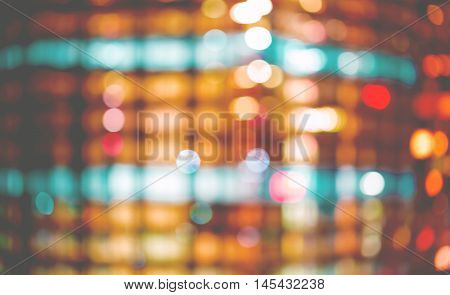 Blurred Abstract Background Of Acity At Night Young Woman Feeling Stressed