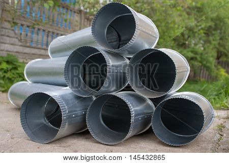 galvanized sheet metal pipe for drainage Zinc drain pipe
