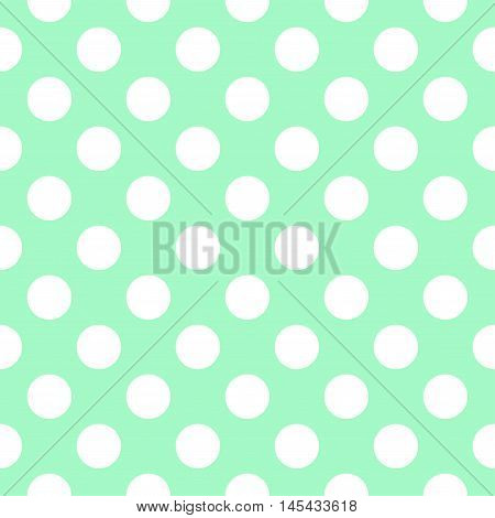 Green Polka Dot Pattern. image in green and white.
