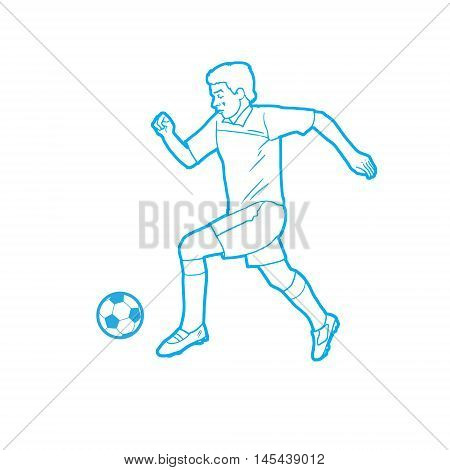 2016. Soccer players. Championship football 2016 summer. Soccer players silhouette with soccer ball isolated. Champion league players. Soccer Players Football field. Football Champion League.