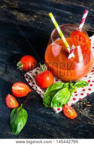 Glass Of Tomatoes Juice