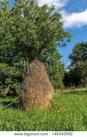 Haystack Mountain. Haystack Mountain. Carpathian landscape Karpaty Ukraine