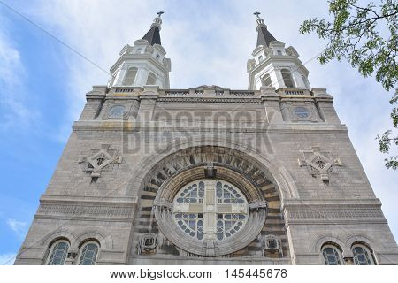 MONTREAL QUEBEC CANADA AUGUST 30 2016: Notre-Dame-des-Sept-Douleurs Church was the first francophone parish in Verdun.