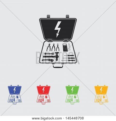 Electrical Toolbox  vector icon for web and mobile