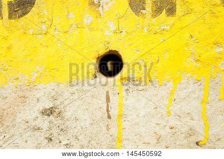 The Cement pole hole background , Texture cement pole