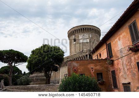 Castle Of Giulio Ii In Ostia Antica Rome