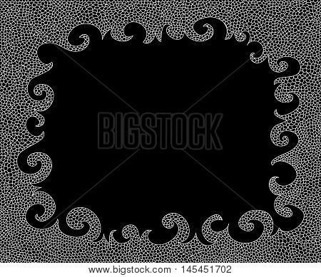Abstract black and white vector decorative frame