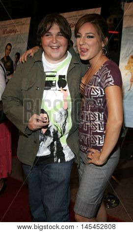 Vanessa Lengies and Andy Milonakis at the Los Angeles premiere of 'Waiting' held at the Mann Bruin Theater in Westwood, USA on September 29, 2005.