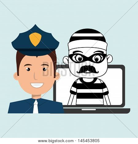 police criminal burglar design vector illustration eps 10
