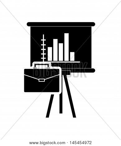 flat design graph chart and briefcase icon vector illustration
