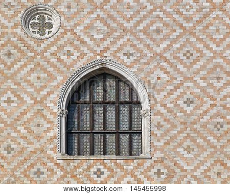 Arch Window at Doge Palace in Venice