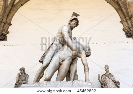 Statue Of Menelaus And Patroclus In Florence