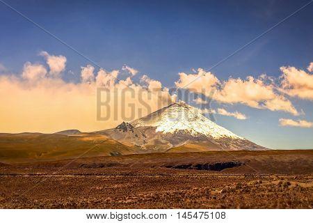 Ash Clouds Above Cotopaxi Volcano Ecuador South America