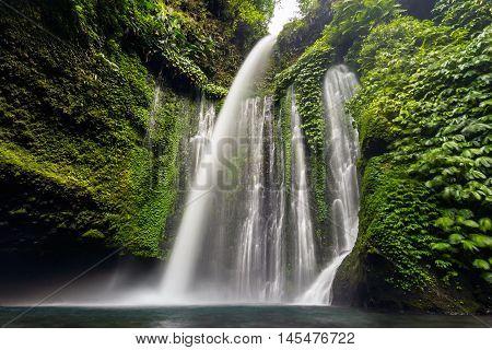 Tiu Kelep waterfall in Senaru, Lombok, Indonesia