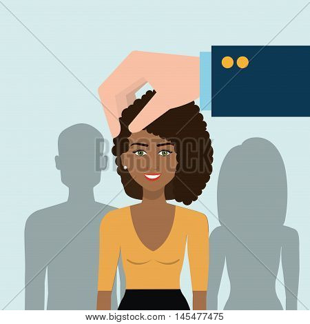 choose find woman work vector illustration graphic