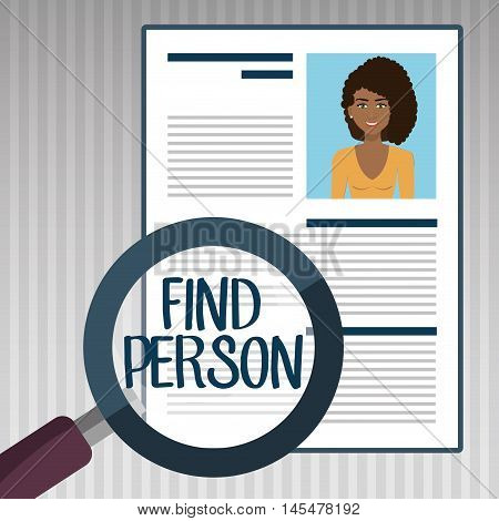 woman search find person vector illustration graphic