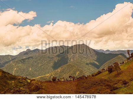 Andes Mountains Cordillera Occidental Andes Central Ecuador Near The Tungurahua Volcano Ecuador South America