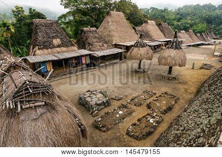 Bena traditional village in Bajawa, Flores, Indonesia