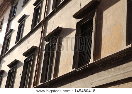Old building in the city of Rome