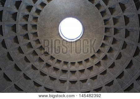 The dome of the Pantheon of Rome