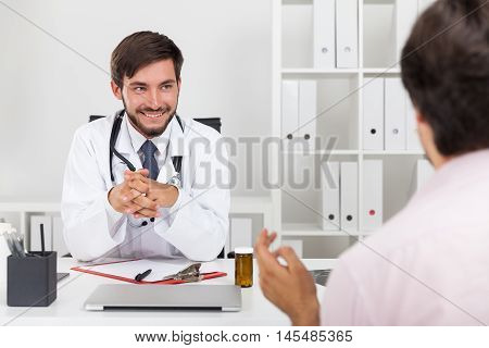 Smiling Doctor With Beard