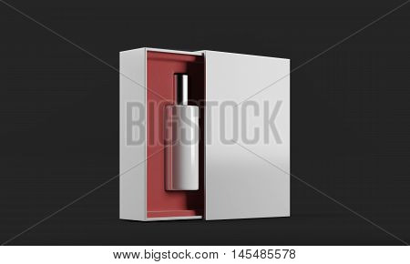 Perfume Bottle In Red And White Box