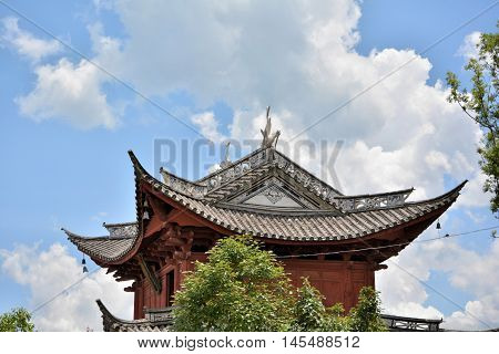 Ancient Southwest Traditional Building Of China