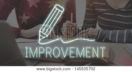 Pencil Writing Learning Improvement Icon Graphic Concept