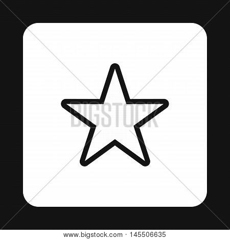 Celestial star icon in simple style isolated on white background. Figure symbol