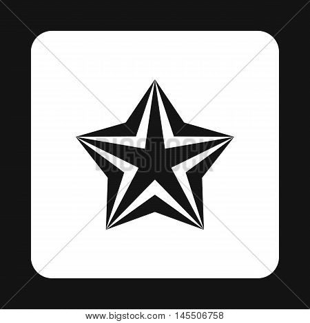 Convex star icon in simple style isolated on white background. Figure symbol