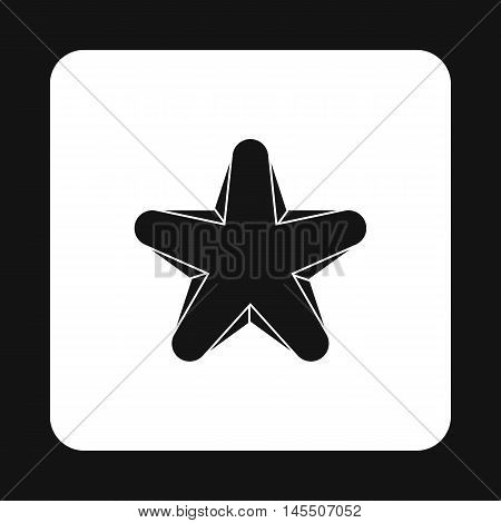 Geometric figure star icon in simple style isolated on white background