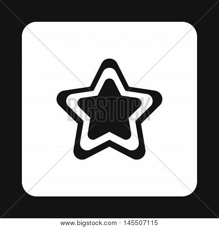 Geometrical figure of five pointed star icon in simple style isolated on white background. Figure symbol