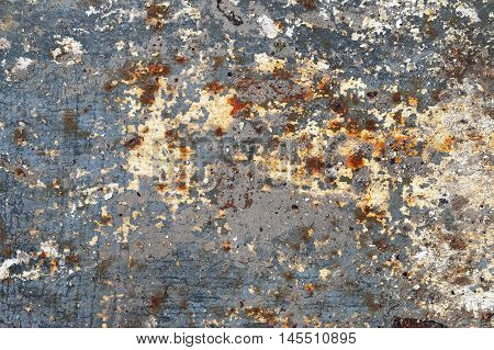 Detail of the weathered cracked plaster - grunge texture