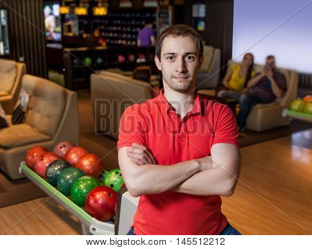 Man in bowling