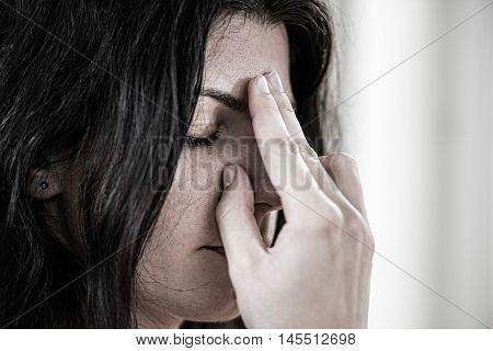 Alternate nostril breathing in Yoga, toned image